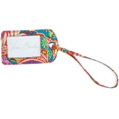 Vera Bradley Luggage Tag in Paisley in Paradise ($12) ❤ liked on Polyvore featuring bags, luggage and paisley in paradise