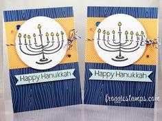 Happy Hanukkah Card - Copics, X-Press It Paper, Lawn Fawn, Pretty Pink Posh, Wink of Stella Merry Christmas Happy Hanukkah, Happy Hannukah, Holiday Cards, Christmas Cards, Christmas Time, Jewish Celebrations, Hanukkah Cards, Lawn Fawn Stamps, Wink Of Stella