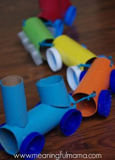 Trains, monsters and more cute crafts kids can make from cardboard tubes!