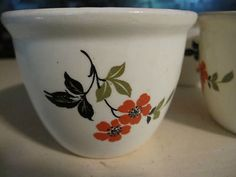 Vintage Hall China Red Poppy Radiance Sunshine CUSTARD BOWLs --I just ended up with 18 of these!!! Oh, no!!