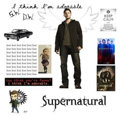 """""""Dean // JENSEN ROSS ACKLES // Supernatural is my bae"""" by spn-dean-pjo-hoo-nico-solangelo ❤ liked on Polyvore featuring art"""