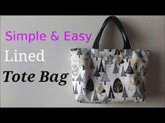 *裏地付き*簡単トートバッグの作り方* 【DIY】Lined Tote Bag Tutorial. - YouTube