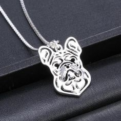 Unique Handmade French Bulldog Pendant Necklace