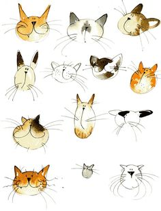 cats by Jill Latter. Do we always have to be realistic in our drawing. Whimsy says so much