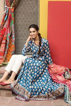 Khaadi 2 Piece Stitched Printed Lawn Suit - L17104-A - Blue