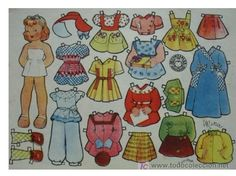 Mina - a ton of paper dolls and cute clothes to dress her in; several other dolls available here.