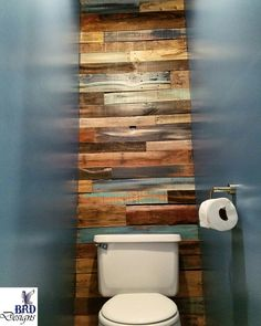 Rustic pallet accent wall