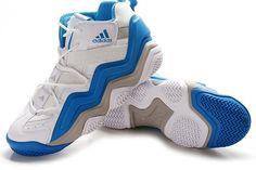 Adidas Top Ten 2000 Mens Basketball Shoes - White/Blue/Grey For $67.90 Go To:  http://www.cheapkobeshoesmall.com