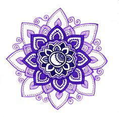 Purple mandala by ~yael360 on deviantART