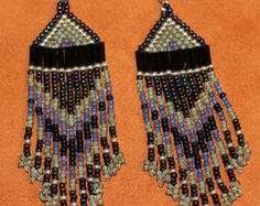 Arco iris nativa abalorios turquesa por Midnightsundesign en Etsy