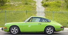 Chartreuse sports car