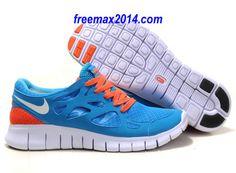 Nike Free Run 2 Size 12 Chlorine Blue White Black Total Orange