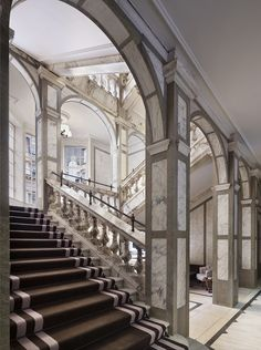 Rosewood London; Grand Staircase, marble