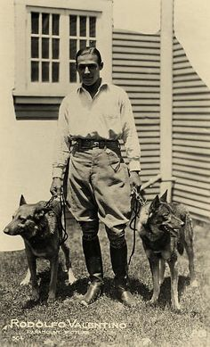Rudolph Valentino's & his GSDs