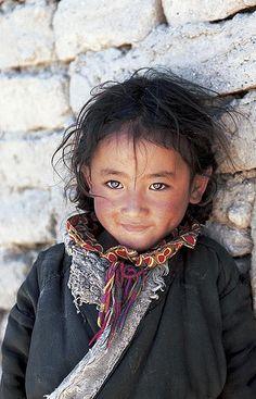 Tibetan nomad girl. Western Tibet, 1999