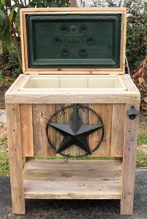 Wood Ice Chest For The Patio