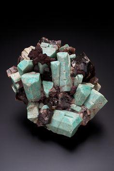 amazonite, smoky quartz  albite, colorado