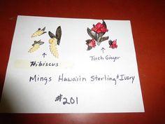 """Lot # 201 - Vintage """"MINGS"""" Hawaii Sterling Brooches & Earings"""