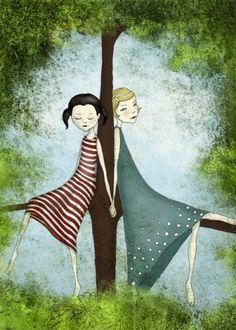 Vänner - Illustration (liten storlek)
