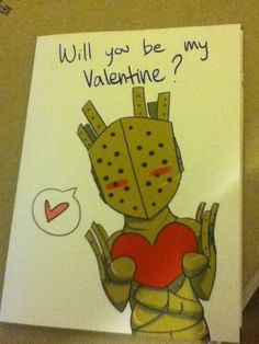 Dark Souls Lautrec Valentine's card from Usagilovex (check it here: http://www.etsy.com/listing/122926262/dark-souls-lautrec-valentines-day-card)