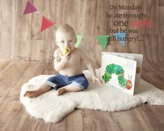 Master K's Hungry Little Caterpillar Cake Smash | Mummy-n-Me Photography