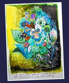 The video blog post where I am talking about finding inspiration from plants and art journaling with india inks and hand decorated papers.