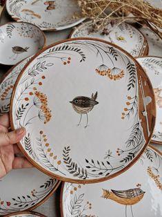 Painted Ceramic Plates, Ceramic Tableware, Ceramic Clay, Ceramic Painting, Ceramic Bowls, Pottery Plates, Ceramic Pottery, Thrown Pottery, Slab Pottery