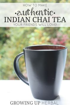Want to impress your friends or kids with a delicious, made-from-scratch herbal tea? Try this recipe for authentic Indian chai tea that's sure to impress! Tea Recipes, Indian Food Recipes, Real Food Recipes, Authentic Indian Recipes, Ayurveda, Chai Recipe, Chi Tea Recipe, Masala Chai, Tea Latte