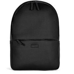 Rains Mesh Bag - Black (140 CAD) ❤ liked on Polyvore featuring bags, backpacks, backpack, black, waterproof rucksack, macbook bag, waterproof backpack, macbook backpack and mesh backpack