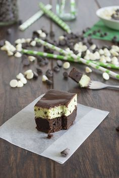 Mint Chip Mousse Brownies