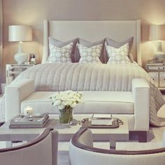 Modern Style Bedroom Design Ideas and Pictures. The modern bedroom should be as beautiful as it is comfortable. To help you create your dream bedroom suite. Modern Master Bedroom, Master Bedroom Design, Dream Bedroom, Home Decor Bedroom, Bedroom Designs, Master Bedrooms, Contemporary Bedroom, Bedroom Bed, Trendy Bedroom