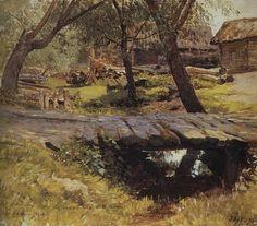 "peithagoras: ""Isaac Ilich Levitan. Bridge. Savvinskaya Sloboda near Zvenigorod. """