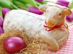 Photo about Easter lamb cake and purple tulips isolated on white background. Image of nature, anniversary, food - 13361009 Best German Food, Lamb Cake, Easter Lamb, Whole Milk Powder, Vegetarian Breakfast Recipes, Purple Tulips, Easter Traditions, Easter Celebration, Easter Treats