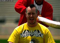 This guy getting hit. | 22 GIFs Of Things Made Brilliant By Slow Motion