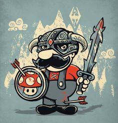 Super Mario + Skyrim