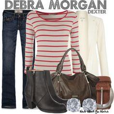 Inspired by Jennifer Carpenter as Debra Morgan on Dexter.