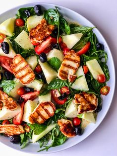 Melissa Hemsley 🌱feelgood recipe 👇🏼 10 minute Halloumi, honey, herby salad 🌿 swap the melon for any ripe fruit or extra tomatoes . Hallumi Recipes, Melon Recipes, Veggie Recipes, Vegetarian Recipes, Healthy Recipes, Healthy Meals, Hallumi Salad, Melissa Hemsley, Healthy Cooking