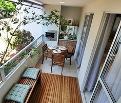 gourmet terraces or porches for barbecues - Wudhichai Wantatrakul- # decoration 21 Balcony Decorating Ideas and Examples More Romantic . Decor, House Styles, House Design, Metal Pergola Diy, Home Deco, Small Balcony Design, House, Outdoor Decor, Outdoor Living
