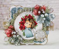 Babis world: Sparkle Poinsettia Tilda