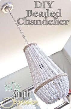diy beaded chandelier http://mysimpleobsession.blogspot.it/2012/05/beaded-chandelier-tutorial.html