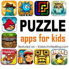 A list of puzzle apps for kids - these will challenge your kids and help them develop critical thinking skills.