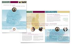 Financial Consulting Brochure Template Design by StockLayouts