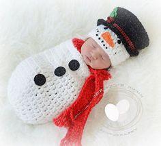 Snowman swaddle sack snowman cocoon NEWBORN by treslittlekings