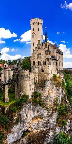 The Lichtenstein castle in Germany.