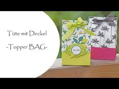 Tüte mit Deckel - Topper BAG - - YouTube Workshop, Stampinup, Punch Board, Diy And Crafts, Wraps, Youtube, Gifts, Packaging Ideas, Wrapping