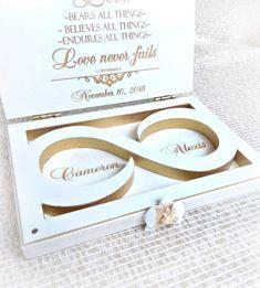 Ring bearer box Wedding ring box Champagne Gold white Orchid   Etsy Art Deco Wedding Invitations, Printable Wedding Invitations, Engagement Box, Ring Holder Wedding, Wedding Rings, Birthday Photo Frame, Proposal Ring Box, Ring Boy, American Flag Wood