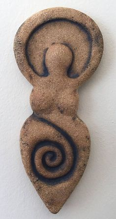 Earth Mother Goddess ceramic stoneware sculpture wall decoration with oxide Pagan Wicca Altar Pottery Sculpture, Sculpture Art, Sculptures, Wicca, Pagan, Earth Goddess, Goddess Art, Sacred Feminine, Divine Feminine