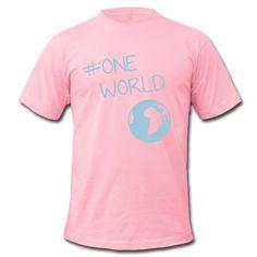 Wir sind eine Welt, und wir haben nur diese eine! Zeichen setzen!  • Klassisch geschnittenes T-Shirt für Männer