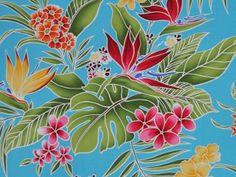 CAA0049 - 100% Cotton Fabric: All-Over Hawaiian Print Fabric