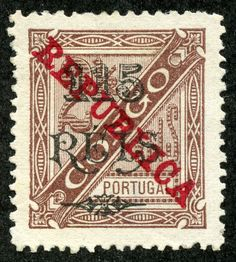 Portuguese Congo 1915 Scott 135 115r on 2 1/2r brown Provisional Issues of 1902 Overprinted